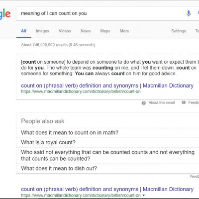 Gambar: cara mencari makna bahasa Inggris di google