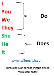 perbedaan penggunaan do dan does ada pada perbedaan kategori subjek
